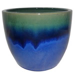 allen roth 11 in blue green ceramic planter lowe s canada