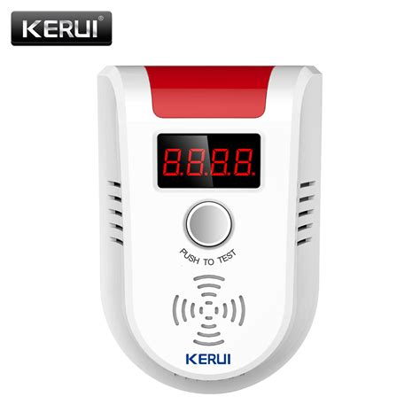 Alarm Gas Lpg kerui lpg gas detector wireless digital led display