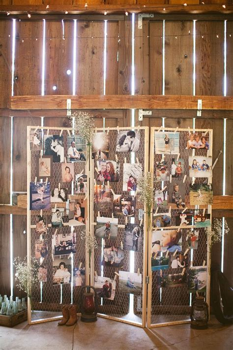 26 creative diy photo display wedding decor ideas tulle - Picture Display Ideas