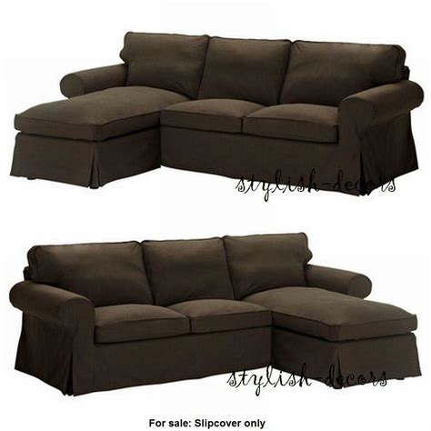 Slipcovers For Sectional With Chaise by New Ikea Ektorp Cover For Loveseat With Chaise Lounge