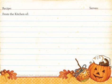 printable halloween recipes 318 best recipe scrapbooking printables and blank recipe