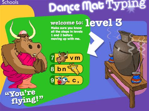 Typing Mat Level 1 by Mat Typing Kirbey S Technology Site