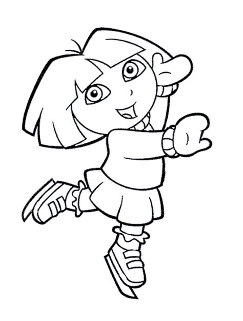 dora winter coloring pages kids ice skating coloring pages az coloring pages