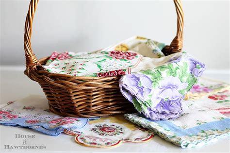 vintage craft projects craft ideas using vintage hankies house of hawthornes
