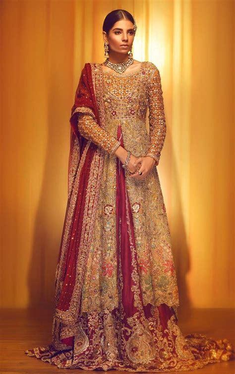 19 Latest Pakistani Bridal Dresses Designs 2018 19 Ideas