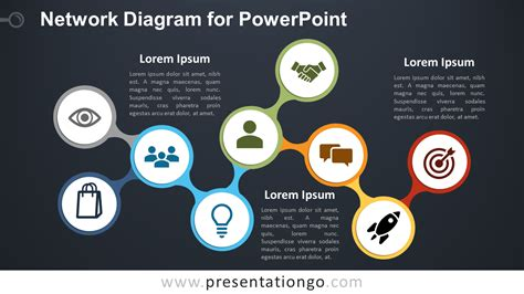 network diagram template powerpoint network diagram for powerpoint presentationgo