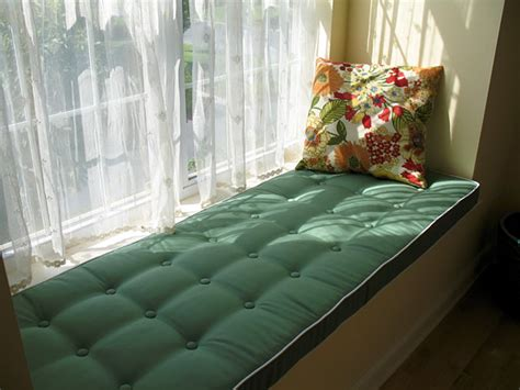 window seat pads soft green window seat cushion with buttons traditional