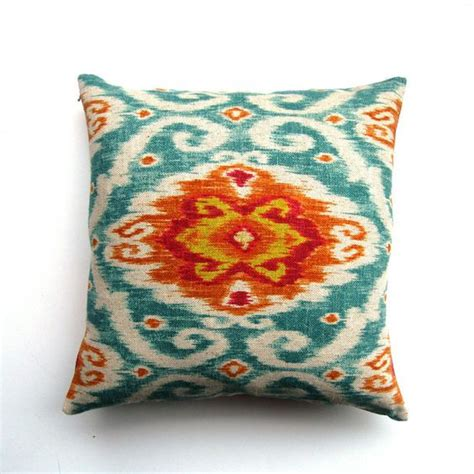 Teal Color Pillows For Couches Orange And Teal Ikat Pillow Accent Colors Navy