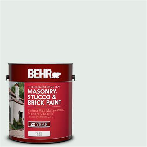 white exterior masonry paint behr premium 1 gal ms 63 white clad flat interior