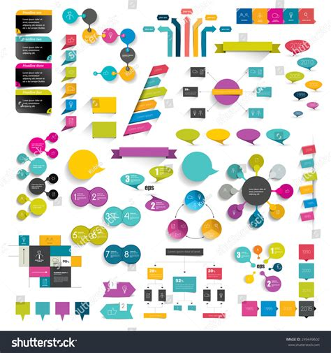print or web color combinations stock image image collections info graphics flat design diagrams stock