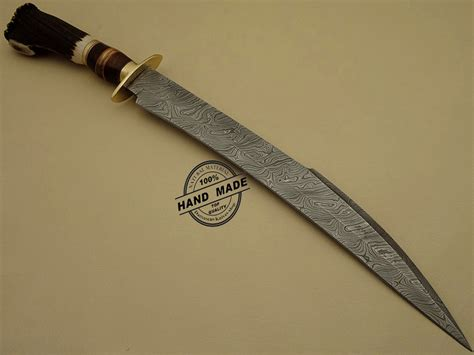 Handcrafted Knife - best damascus sword custom handmade damascus steel