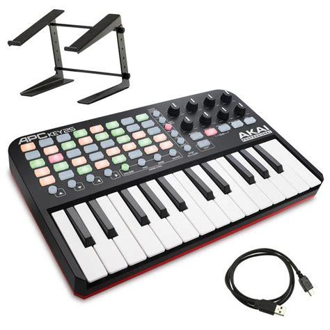 midi keyboard controller stand akai apc key 25 ableton live usb midi keyboard controller