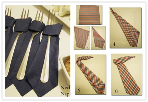 Creative Home Decorations by How To Fold Napkin In Neck Tie Shape Step By Step Diy