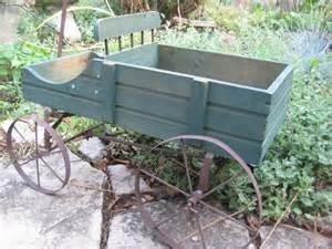 vintage garden cart wagon planter garden