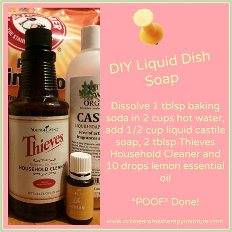 diy essential oils diy liquid dish soap with thieves household cleaner