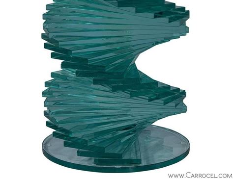 stacked glass table l stacked glass sculptural side table at 1stdibs