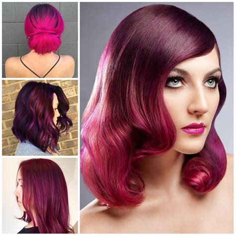 hairstyles and hair colors best hairstyles for magenta hair color 2017 haircuts