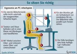 arbeitsplatt bye bye genickstarre ergonomischer arbeitsplatz teil
