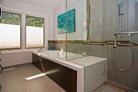 2 wall bathtub two wall bath tub bathroom modern with glass shower
