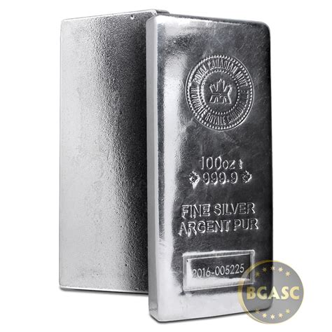 1 oz silver bar canada buy 100 oz silver bar royal canadian mint rcm 9999