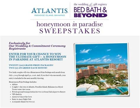 bed bath and beyond sweepstakes bed bath and beyond sweepstakes 28 images bed bath