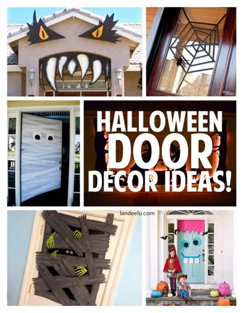 Diy Home Decor Cheap halloween door decor ideas landeelu com