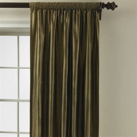 ethan allen curtains dupioni silk rod pocket panel traditional curtains