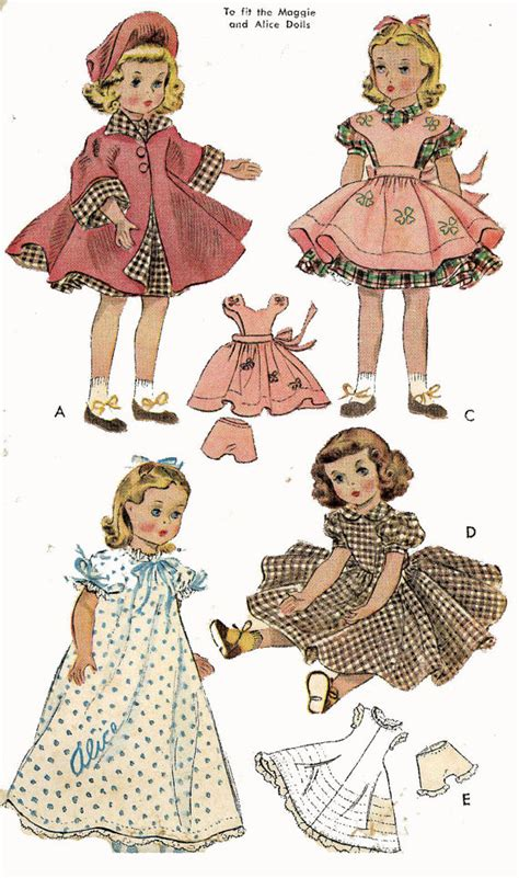 pattern for doll clothes 15 inch doll clothes pattern 1717 15 inch maggie alice by blondiesspot