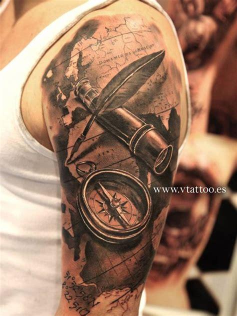 3d tattoo half sleeve 3d nautical tattoo on half sleeve