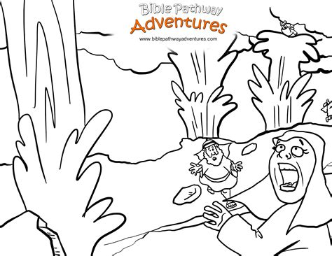 bible coloring page water from the rock free coloring pages of moses water from the rock