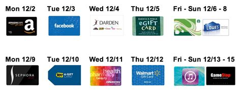 Facebook Gift Cards On Sale - amazing december gift card sales amazon and facebook