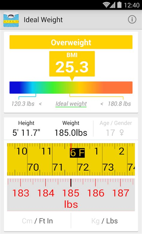 calculator weight ideal weight bmi calculator android apps on google play