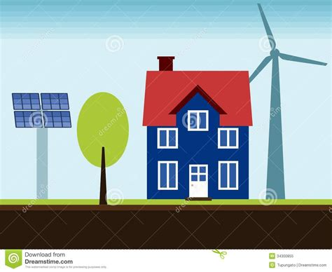 renewable energy house design renewable energy home royalty free stock photo image 34300855