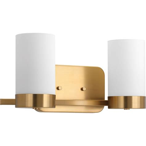 brushed brass bathroom lighting progress lighting elevate 2 light brushed bronze bath