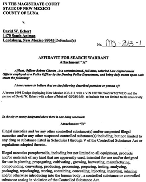Nm Warrant Search The Politics Of The David Eckert Update