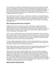Moral Development Essay by Moral Development Kolhberg