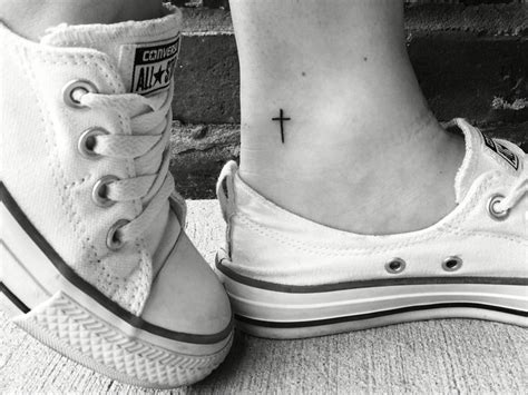 dainty cross tattoos tiny idea small dainty cross the