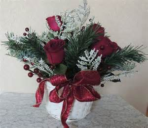 red roses silk winter berry flower arrangement basket