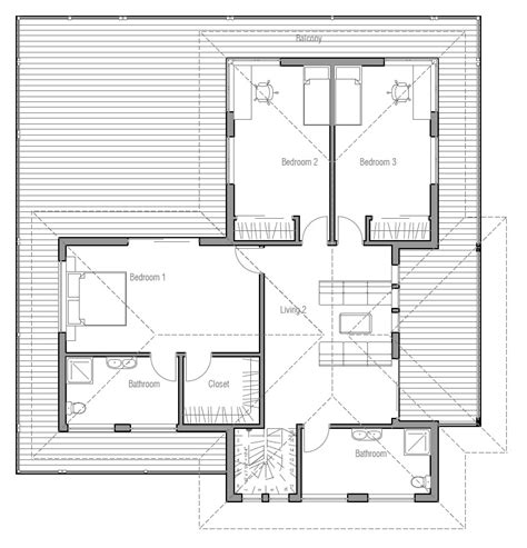 new home floor plans for 2013 modern house plan with very large balcony house plan