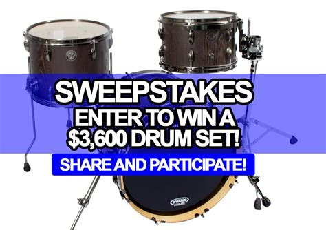 Enter To Win Giveaway - sweepstakes enter to win a 3 600 drum set