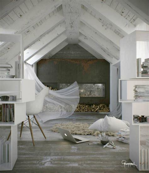 interior design attic bedroom awesome atmospheric white attic loft decoholic