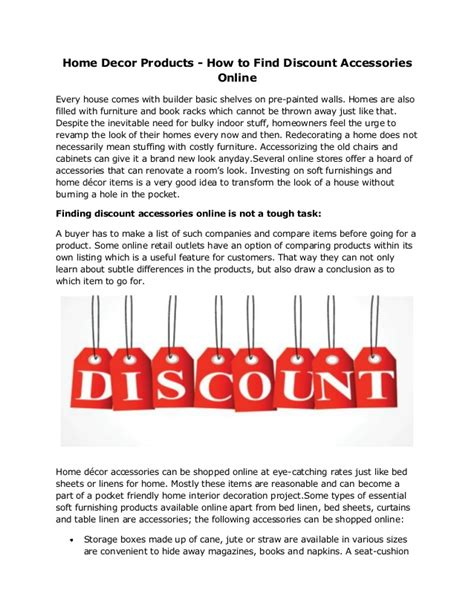 home decor products how to find discount accessories