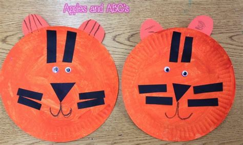 Tiger Paper Plate Craft - tiger paper plate craft preschool