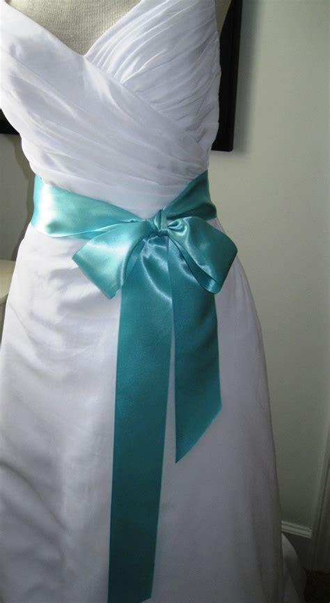 blue wedding belt bridal sash a satin