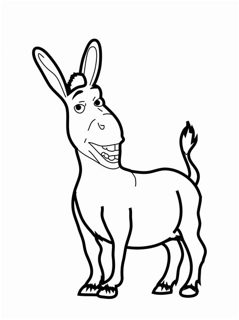 christmas donkey coloring page free printable donkey coloring pages for kids