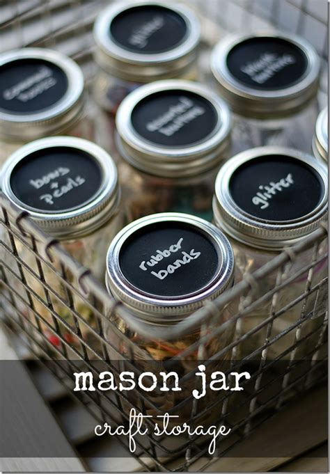 chalk paint jar labels creative space organization ideas the papery craftery
