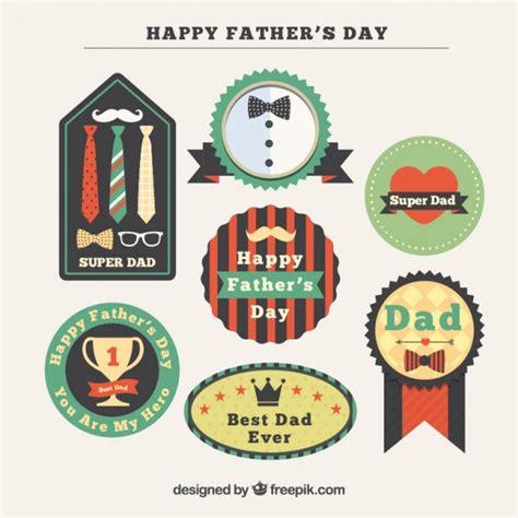 S Day Badges Decorative S Day Badges In Vintage Design Vector