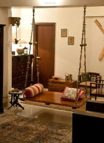 South Indian Home Decor by Oonjal Wooden Swings In South Indian Homes Home
