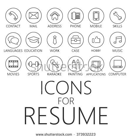 cv icon stock photos images pictures