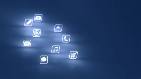background apps mobile apps icon background stock footage 2142668